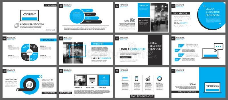 Blaues und weißes Element für das Dia infographic auf Hintergrund vektor abbildung