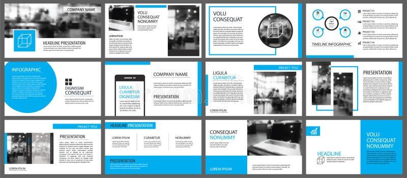 Blaues und weißes Element für das Dia infographic auf Hintergrund pres lizenzfreie abbildung