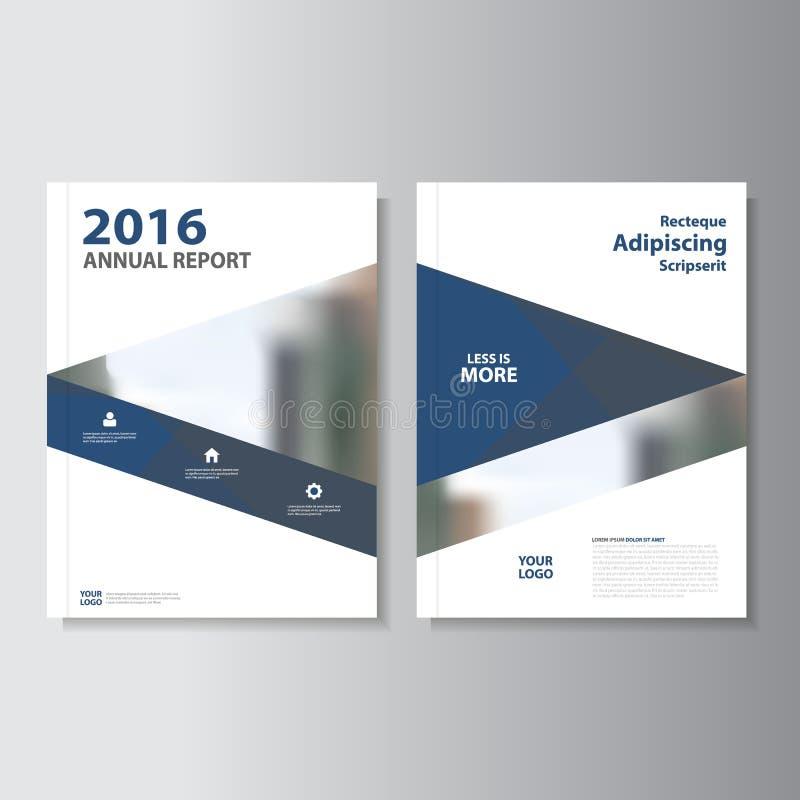 Blaues Vektorjahresbericht Broschüren-Broschüren ...