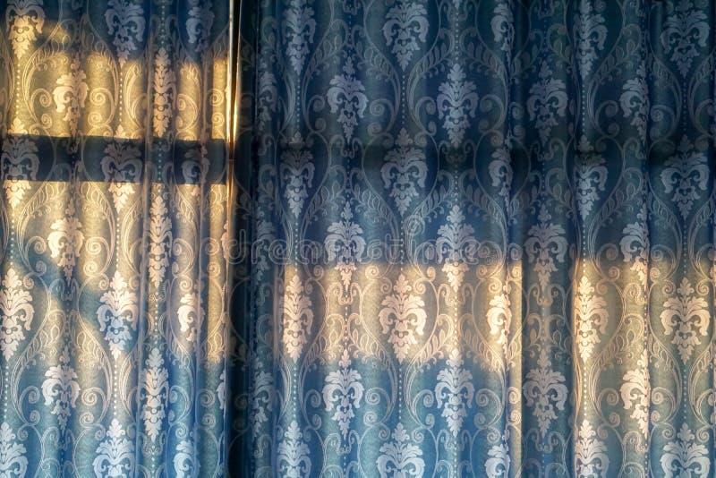 Blaues Vorhanghintergrund-Beschaffenheitsmuster lizenzfreie stockfotos