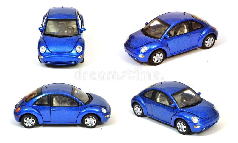 Blaues VW-neues Käfer-Auto trennte lizenzfreies stockbild