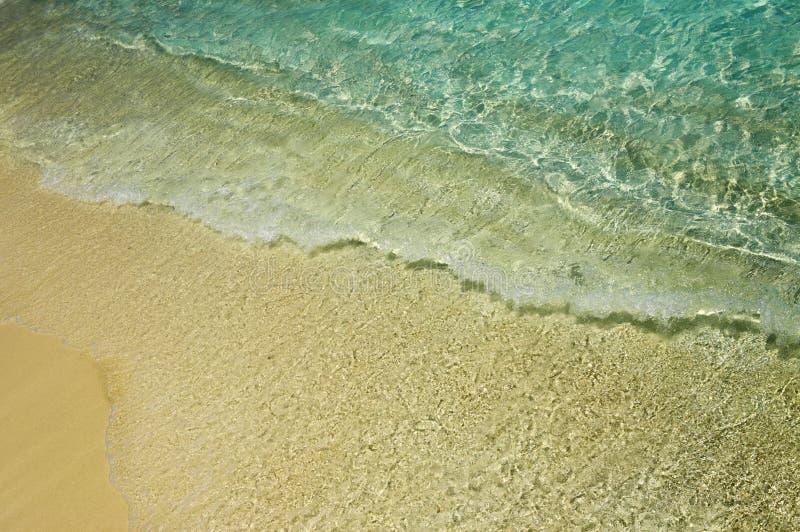 Blaues Wasser plätschert nahe einem Ufer 1 stockbilder