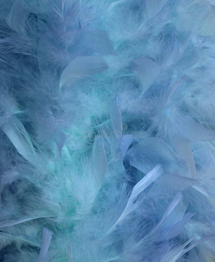 Blaues Wasser und Federunschärfenhintergrund lizenzfreie abbildung