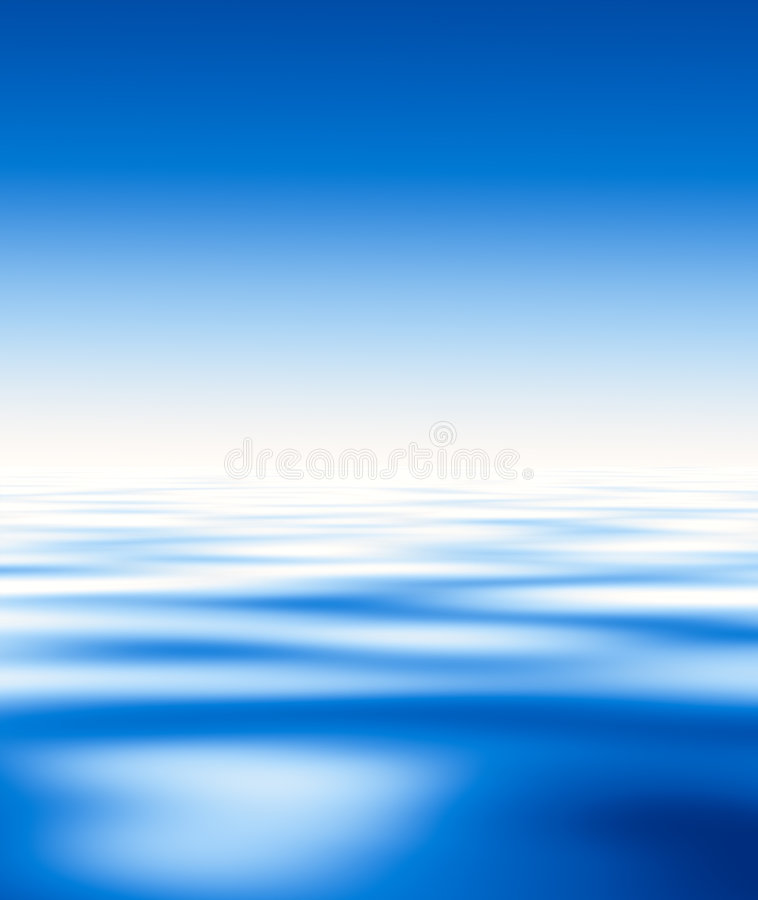 Blaues Wasser und Himmel…. stock abbildung