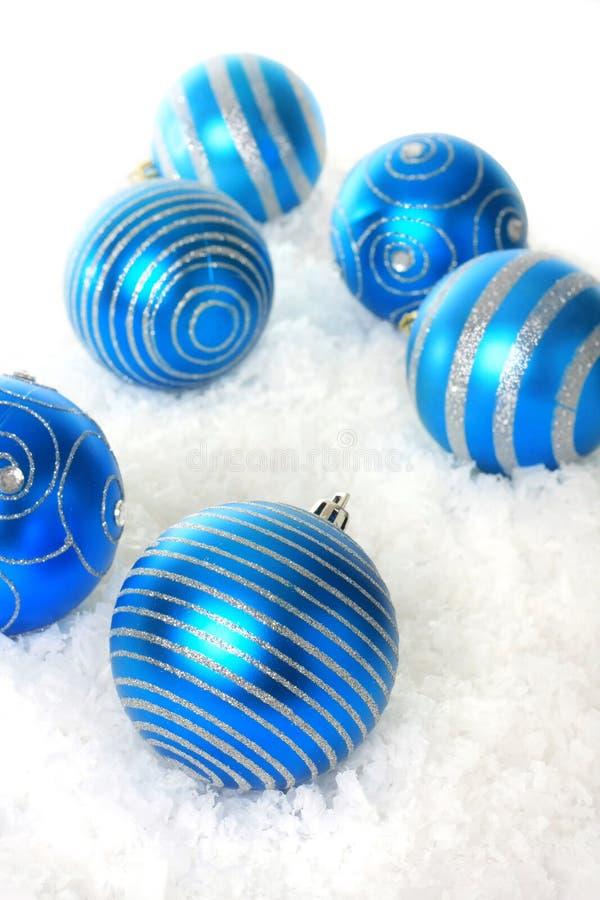 Blaues Weihnachten lizenzfreie stockfotos