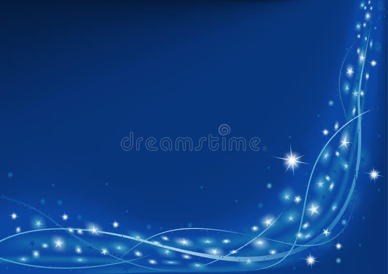 Blaues Weihnachten lizenzfreie abbildung