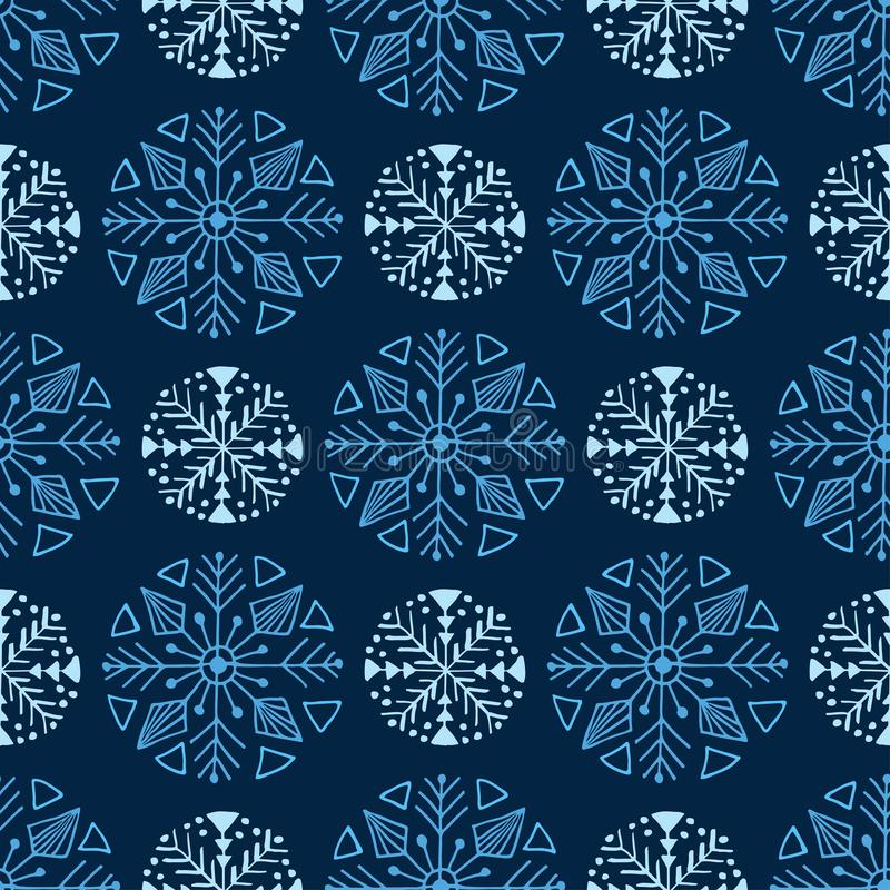 Blaues Weihnachtsnahtloses Muster   vektor abbildung