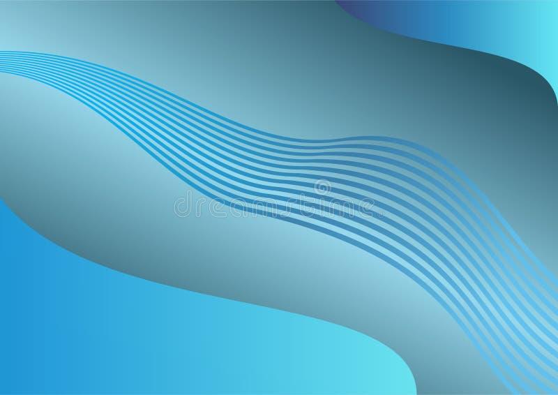 Blaues Welle baground stockbild