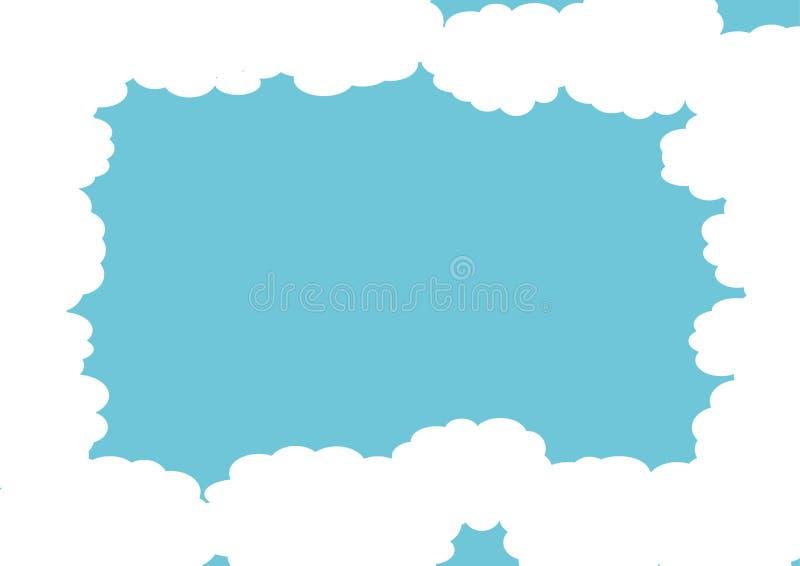 Blaues Wolkenfeld stock abbildung