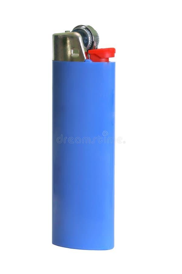 Blaues Zigaretten-Feuerzeug stockfoto