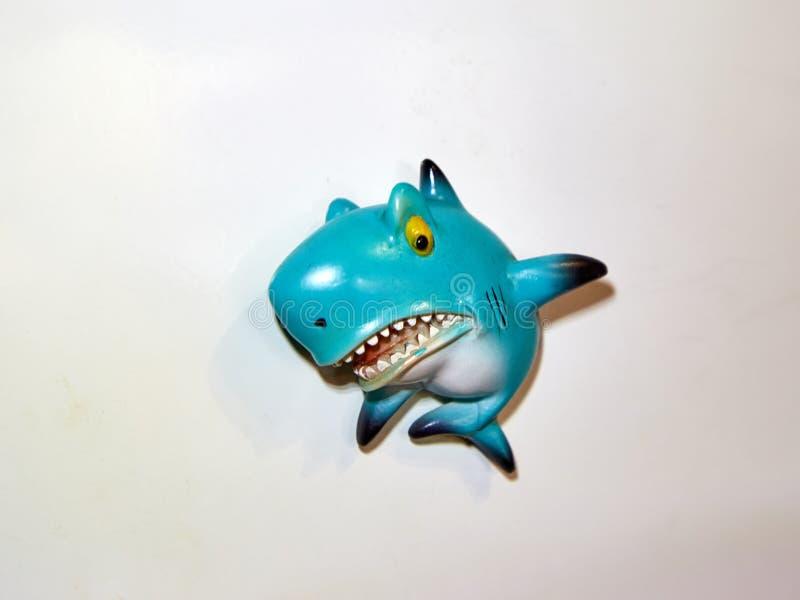 Blauhai lokalisiert, Schatten stockfotografie