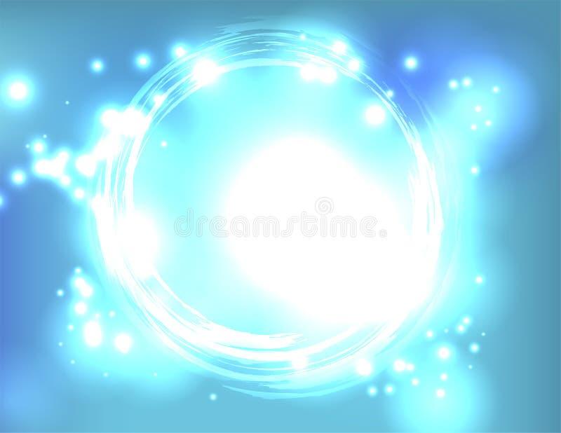 Blaulicht-Explosions-Zusammenfassungs-Hintergrund-Illustration stockfotos