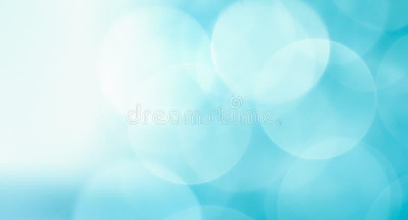 Blaulichthintergrund, große bokeh Kreise lizenzfreies stockbild