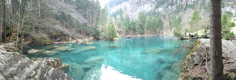 Blausee苏黎世Schweiz Oberland 库存照片