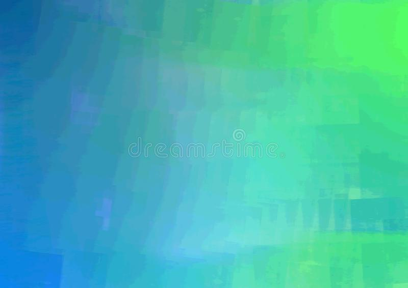 Blauw aan Groen Fade Paint-Roosterontwerp de Achtergrond van PNG stock foto