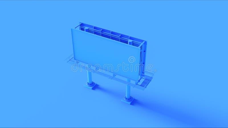 Blauw Aanplakbord royalty-vrije illustratie