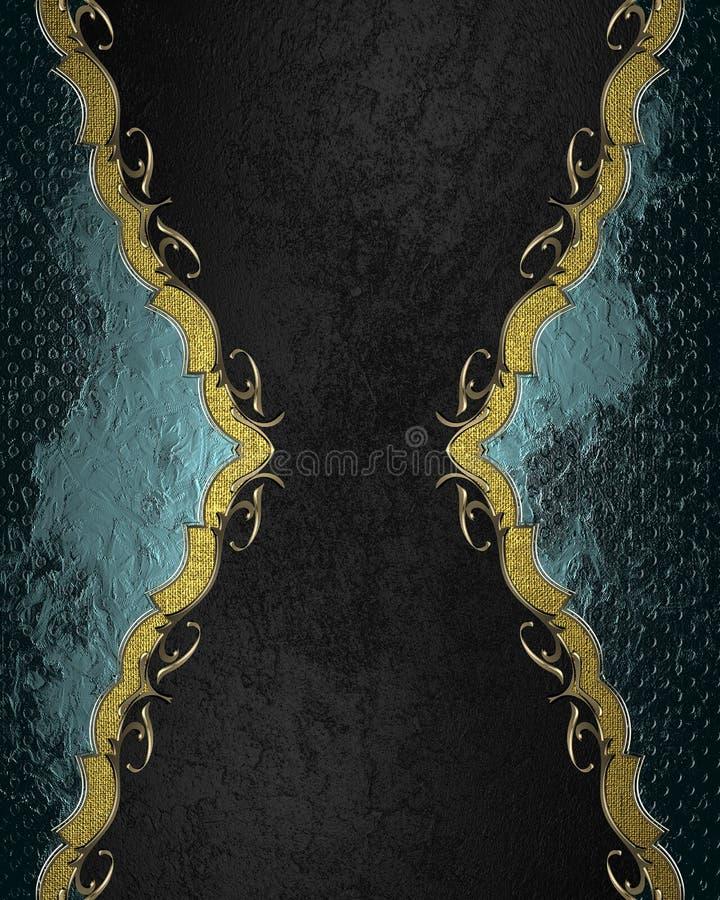 Blauw abstract kader op zwarte achtergrond Element voor ontwerp Malplaatje voor ontwerp exemplaarruimte voor advertentiebrochure  stock foto's
