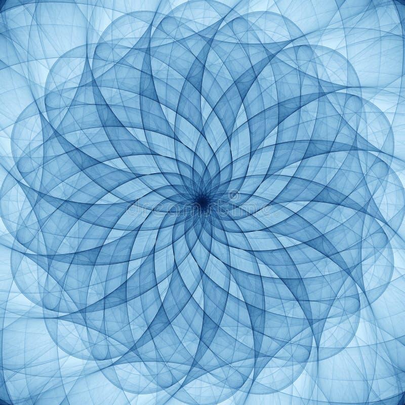 Blauw abstract ornament royalty-vrije illustratie