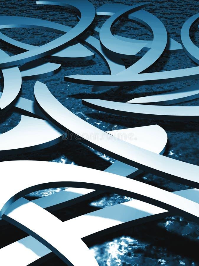 Blauw abstract water stock illustratie