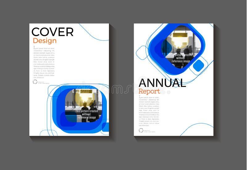 Blauw achtergronddekkingsontwerp, moderne boekdekking abstracte Brochur royalty-vrije illustratie