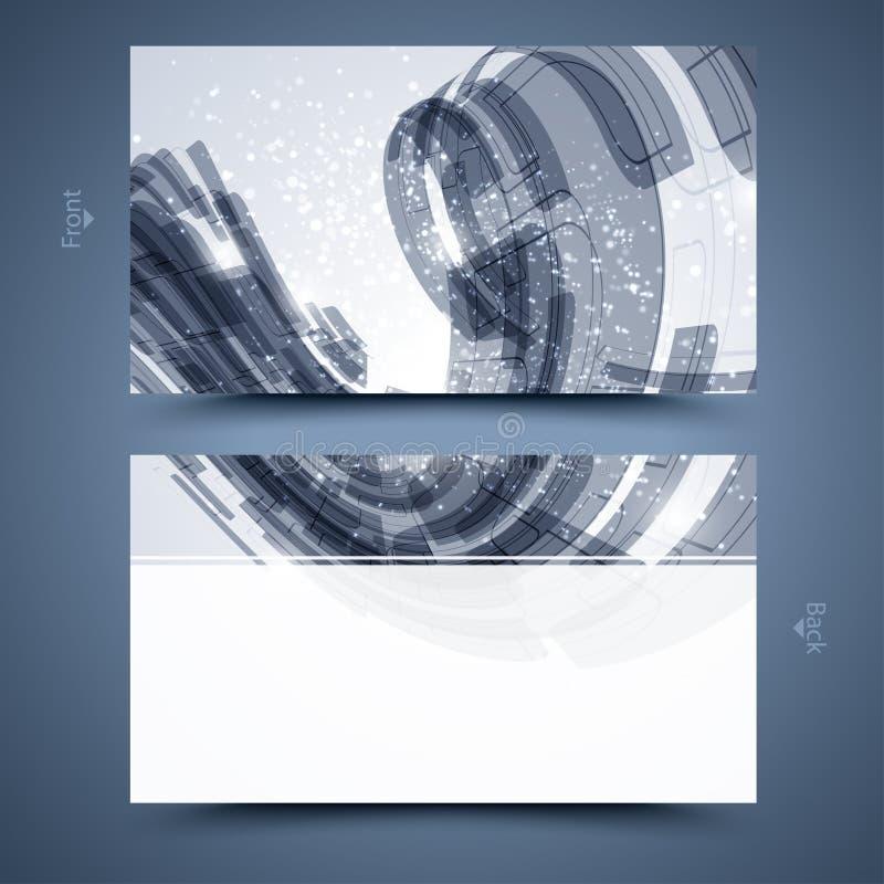Blauw adreskaartjemalplaatje. Abstracte achtergrond  vector illustratie
