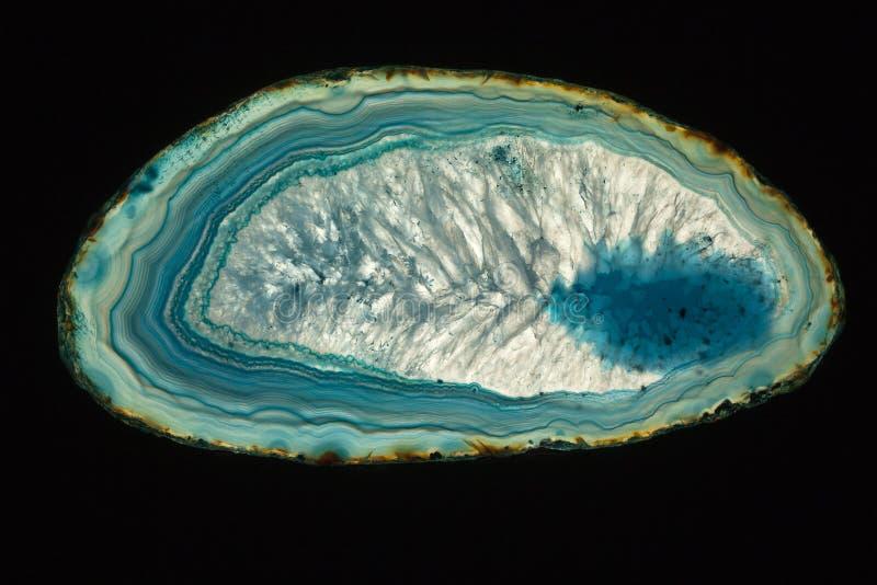 Blauw agaat royalty-vrije stock afbeelding