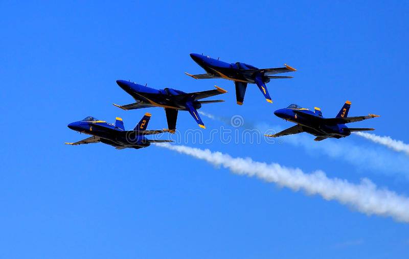 Blauw Angel Airshow in Robins AFB royalty-vrije stock foto's