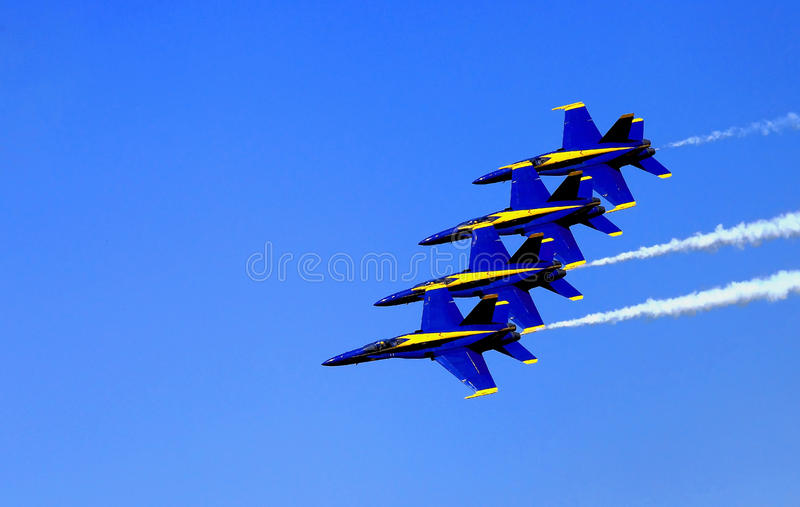 Blauw Angel Airshow in Robins AFB royalty-vrije stock fotografie