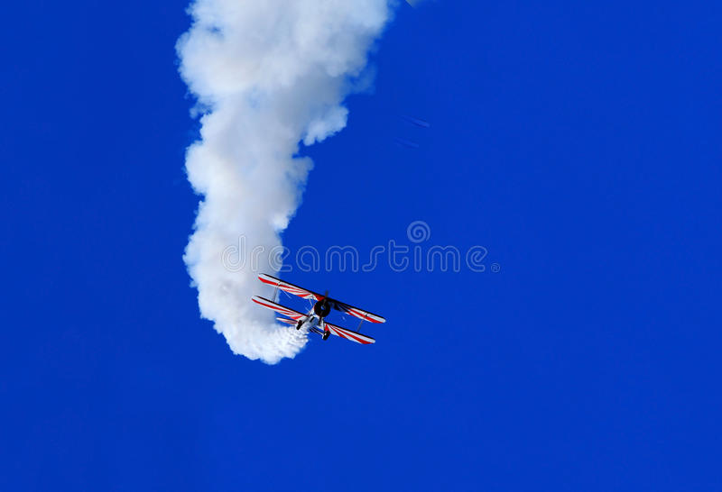 Blauw Angel Airshow in Robins AFB stock foto's