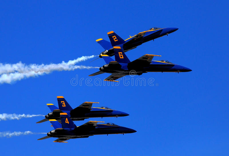 Blauw Angel Airshow in Robins AFB royalty-vrije stock foto