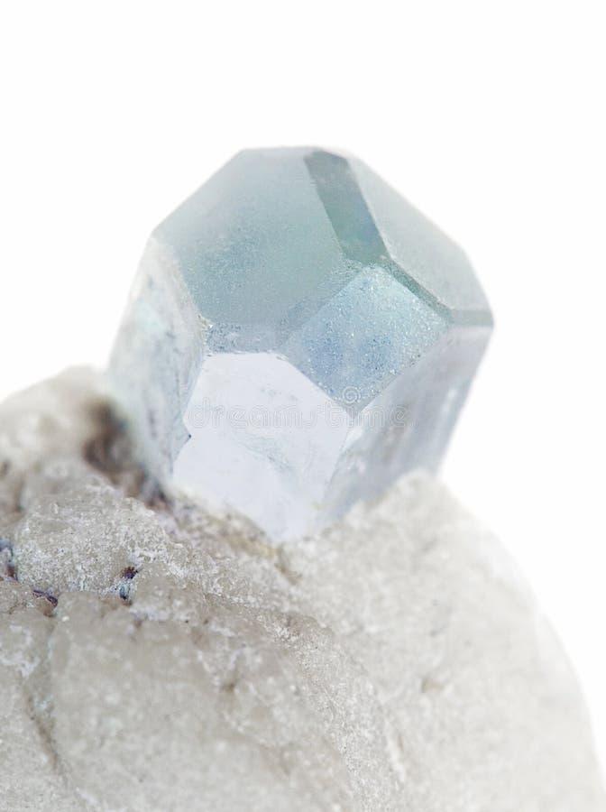 Blauw aquamarijnkristal royalty-vrije stock fotografie