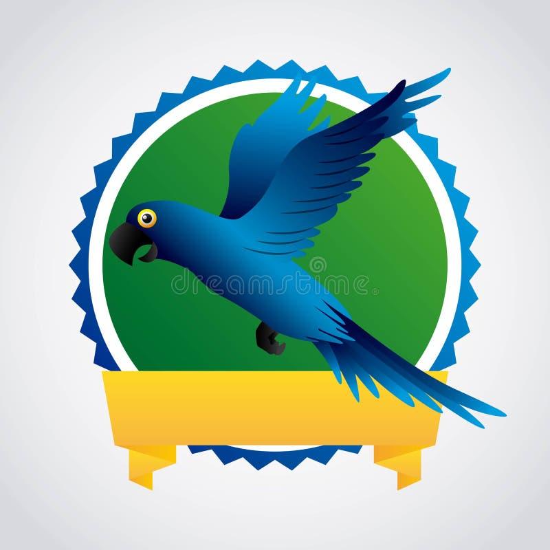 blauw araontwerp royalty-vrije illustratie