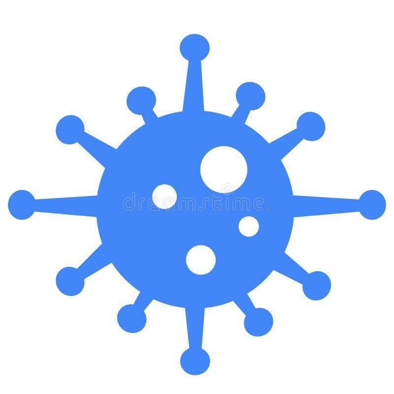 Blauw bacteriënpictogram op witte achtergrond Vlakke stijl kiemenpictogram voor uw websiteontwerp, embleem, app, UI het symbool v royalty-vrije illustratie