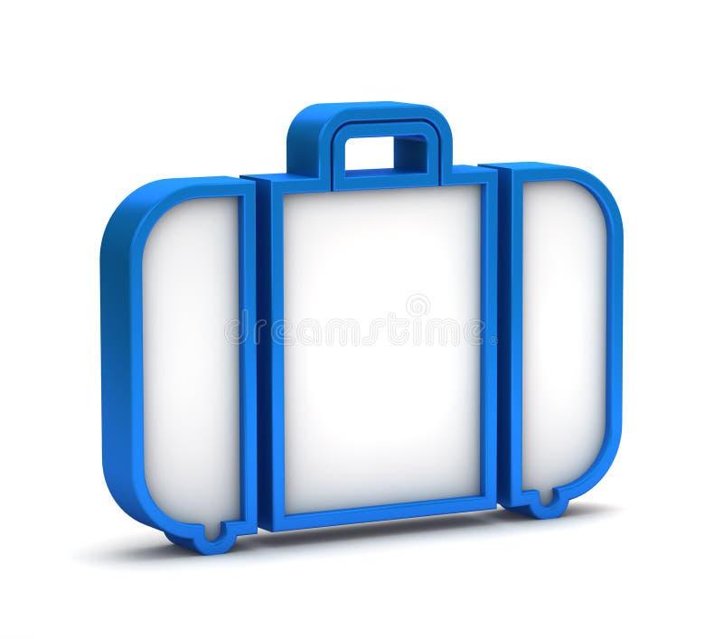 Blauw bagagepictogram royalty-vrije illustratie