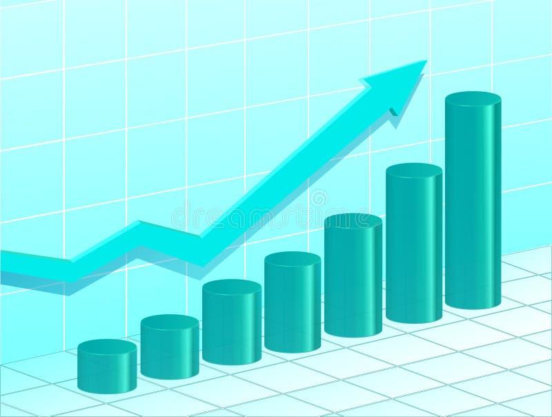 Blauw bedrijfsdiagram stock afbeelding