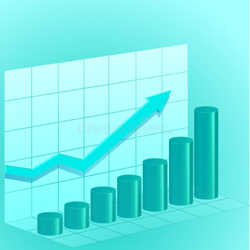 Blauw bedrijfsdiagram royalty-vrije stock afbeelding