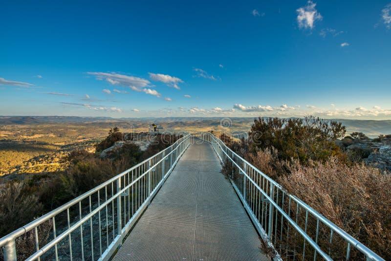 Blauw Bergen nationaal park Australië stock foto's