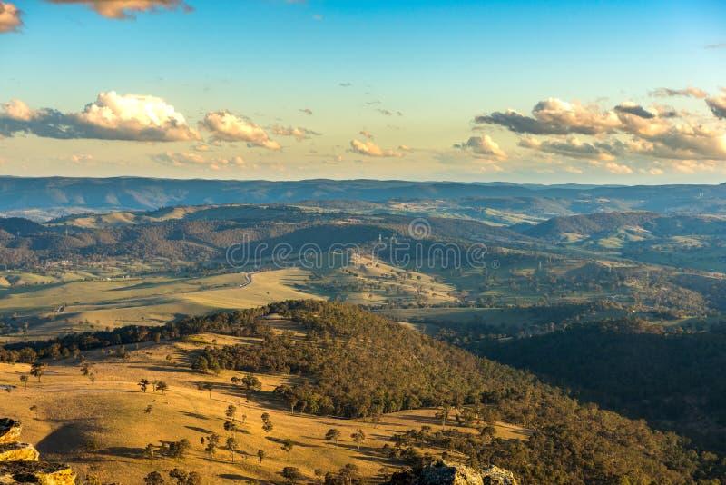 Blauw Bergen nationaal park Australië stock afbeelding