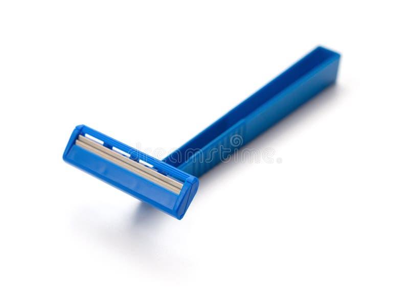Blauw beschikbaar scheerapparaat royalty-vrije stock afbeeldingen