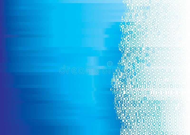 Blauw binair getal vector illustratie
