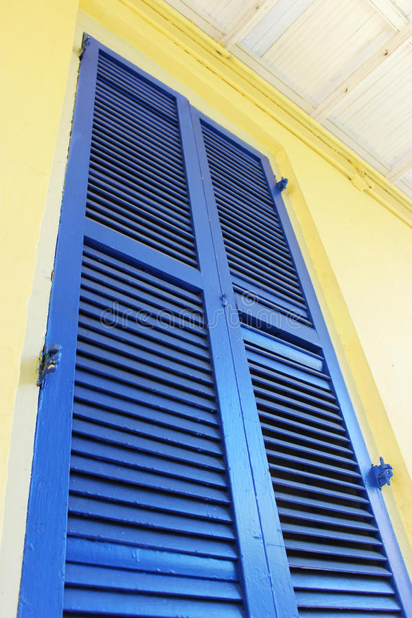 Blauw Blind in Frans Kwart stock afbeelding