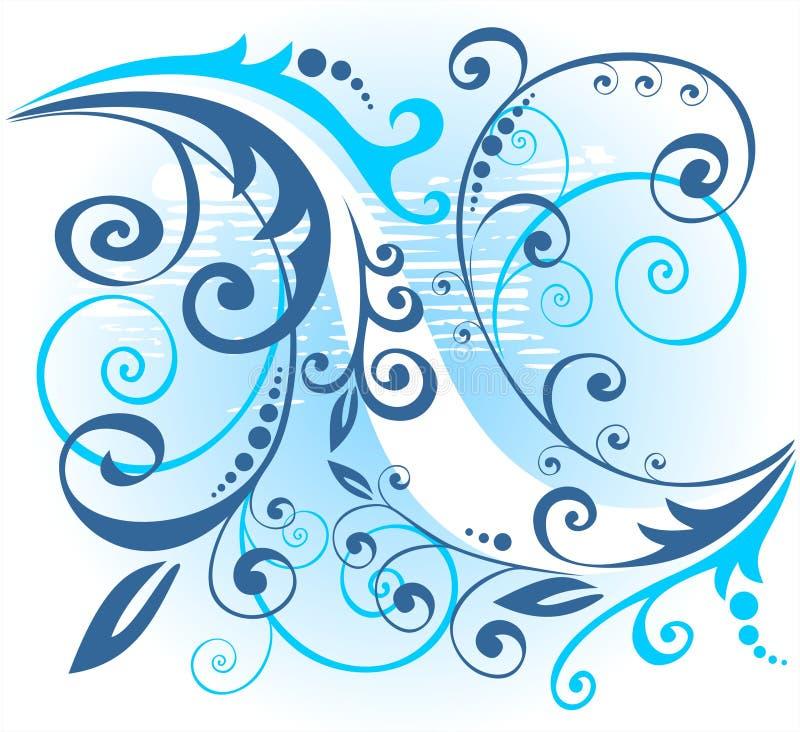 Blauw bloemenpatroon vector illustratie