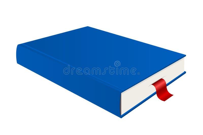 Blauw Boek met Referentie royalty-vrije illustratie