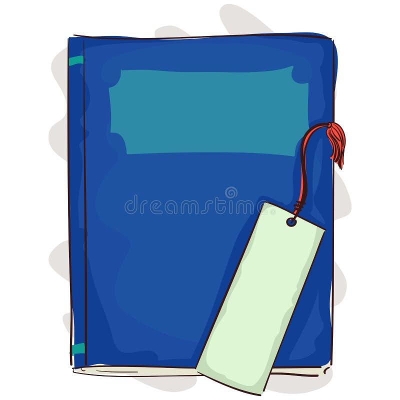 Blauw Boek met Referentie stock illustratie