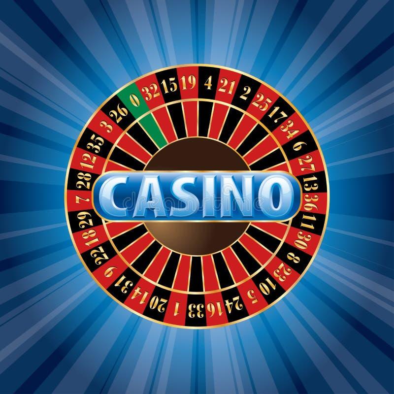 Blauw Casino vector illustratie