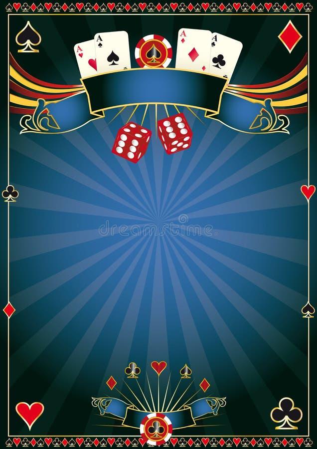 Blauw Casino royalty-vrije illustratie