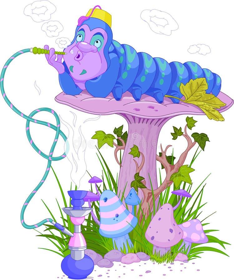 Blauw Caterpillar royalty-vrije illustratie