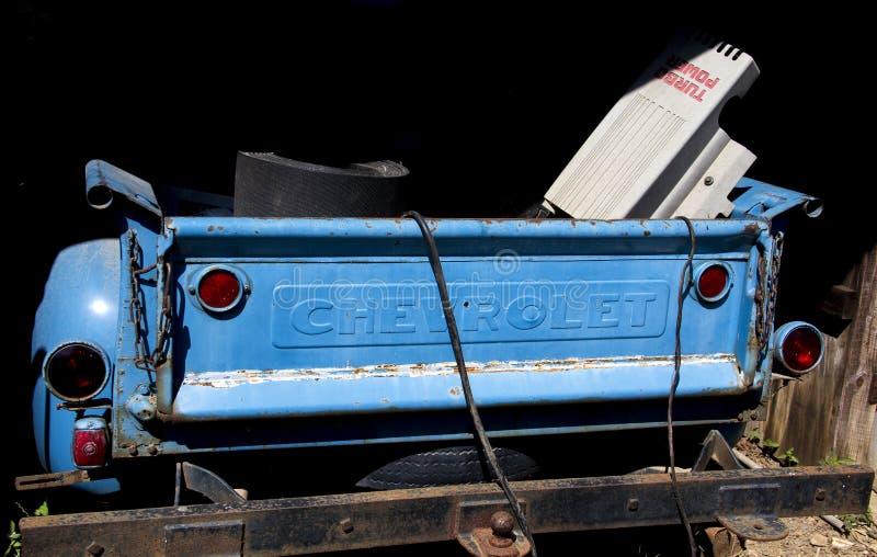 Blauw Chevy Pickup stock foto's