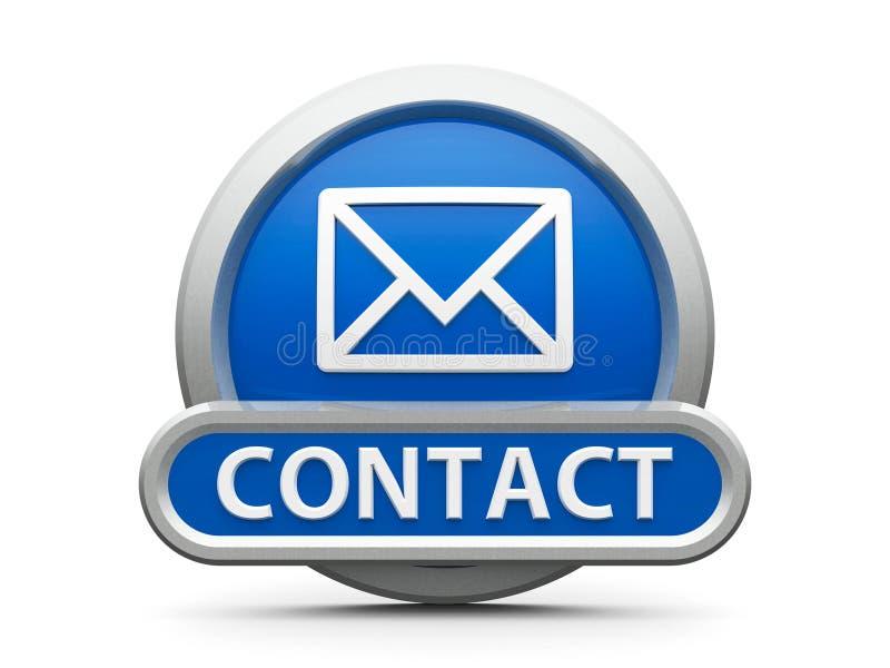 Blauw contactpictogram vector illustratie