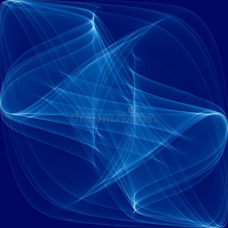 Blauw dat de Golvende Gloed van Lijnen wervelt stock illustratie